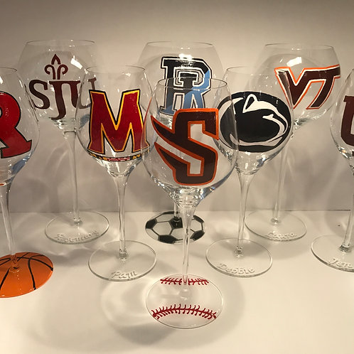 Long Stemmed Custom College Glass