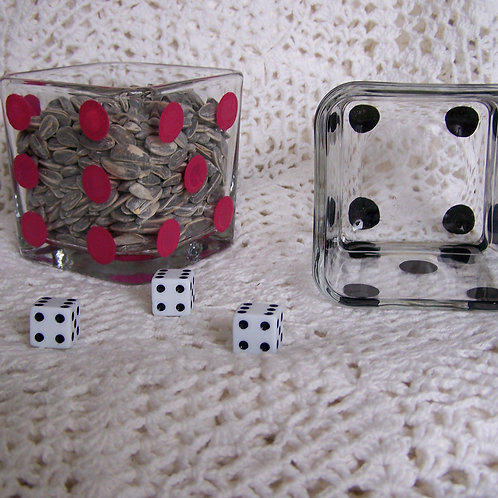 Pair of Bunco/Casino Night Dice candy dish
