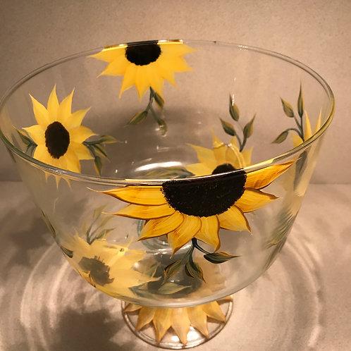 Sunflower Trifle Bowl