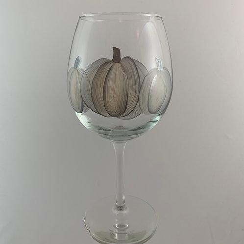 3 Silver Pumpkins