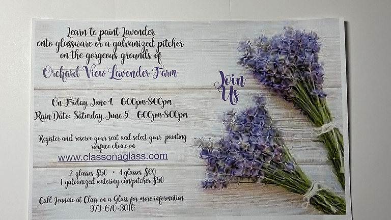 Painting Lavender at Orchard View Lavender Farm