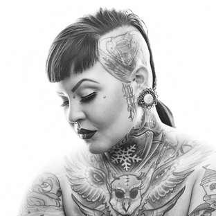 Myni the Rocket Tattoo Artist