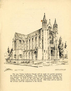 Architectural Drawing of New Trinity.