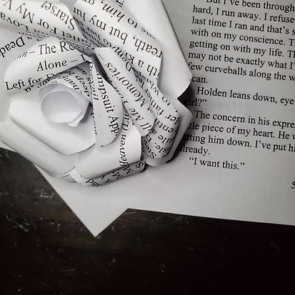 book page rose