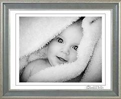 Baby soft black & white portrait