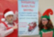 Christmas murder mystery Santa and elf