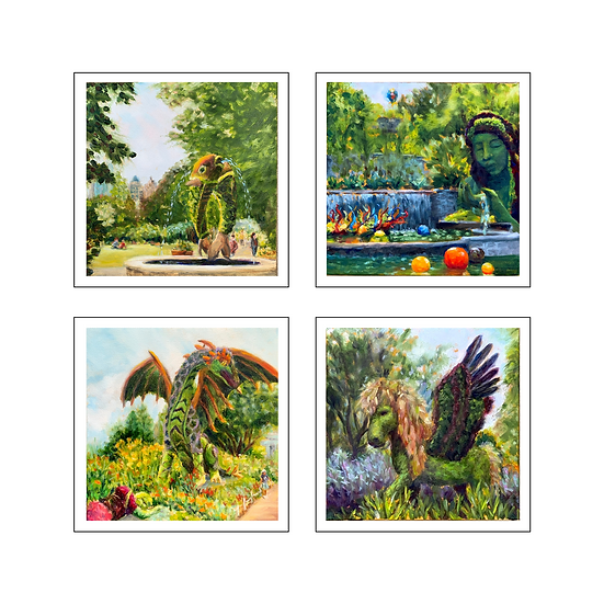 Atlanta Botanical Gardens Greeting Cards