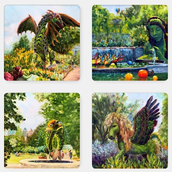 Atlanta Botanical Gardens Coaster Set