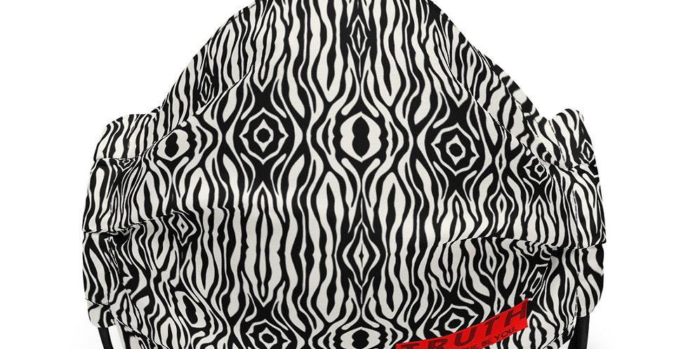 Premium face mask in Mini Zebra Print