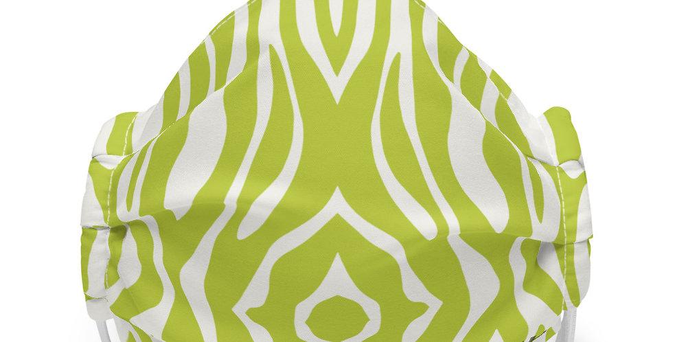 Premium face mask Kiwi Exploded Zebra