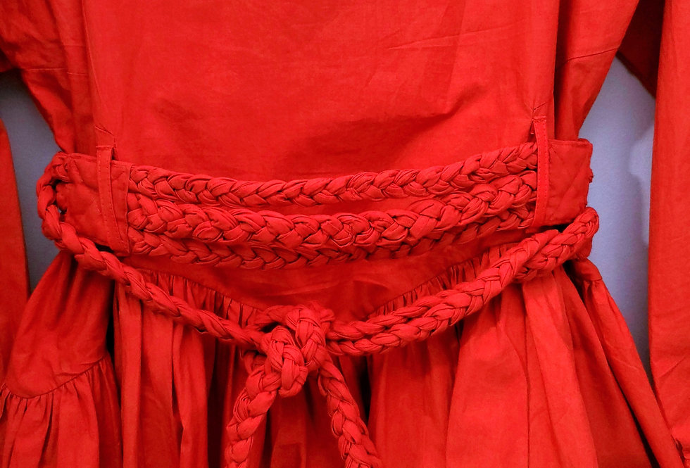 Rosa Dress Flame Red