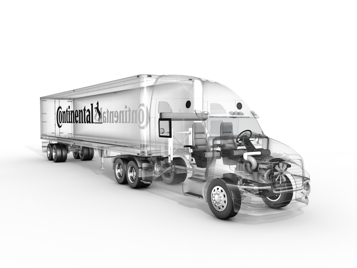 Continental Tire 3D rendering
