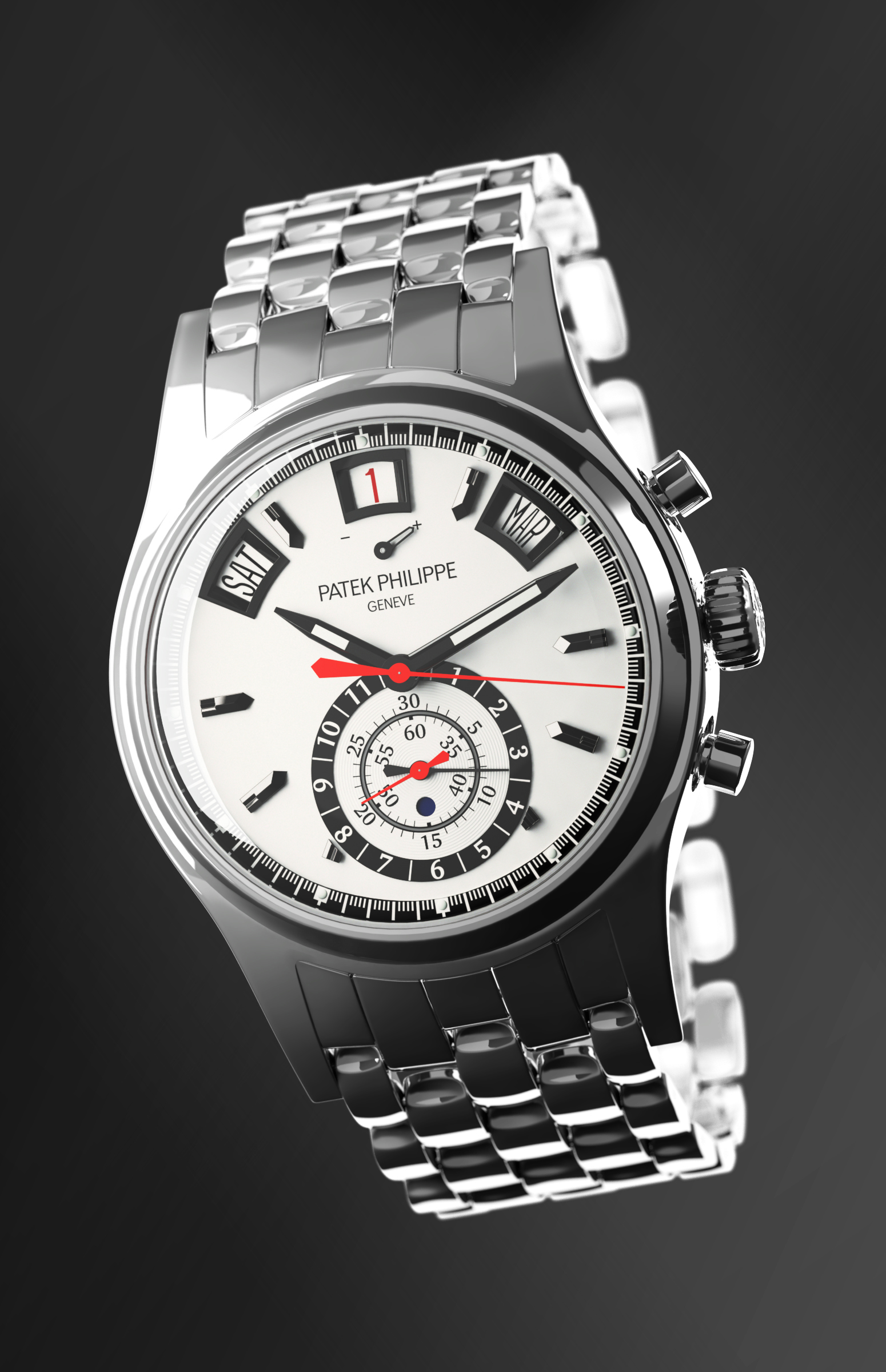 Patek Philippe 3D CGI Watch