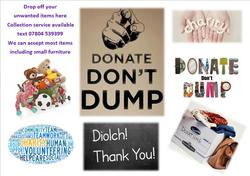 donate dont dump poster