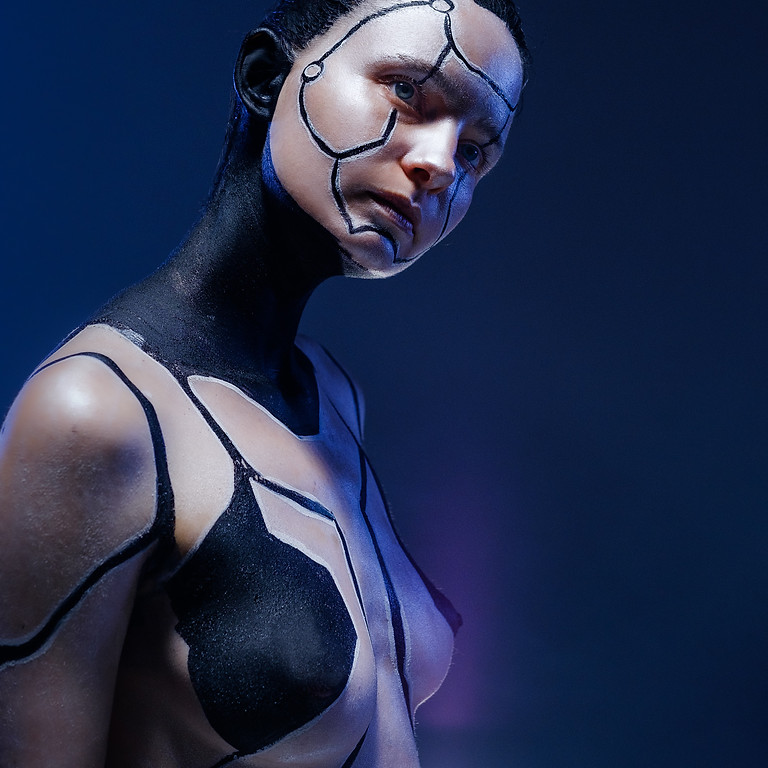 Cyber Themed Body Paint Photo Workshop