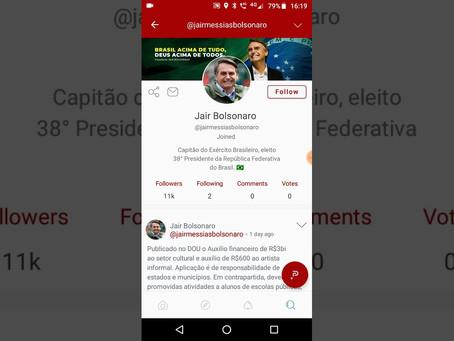 """Bolsonaro, Trump e outros conservadores aderem a rede social """"sem censura"""""""