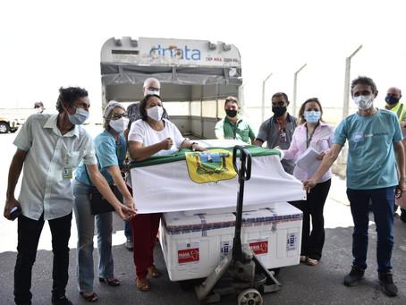 Governo do RN recebe novo lote de vacinas contra Covid-19