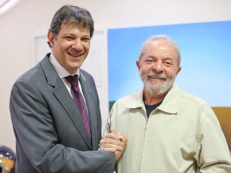 Lula indica Haddad como pré-candidato do PT para presidente em 2022