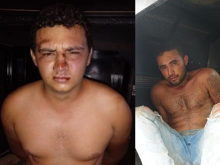 Polícia prende dois assaltantes por roubo a posto de combustíveis em Lucrécia/RN
