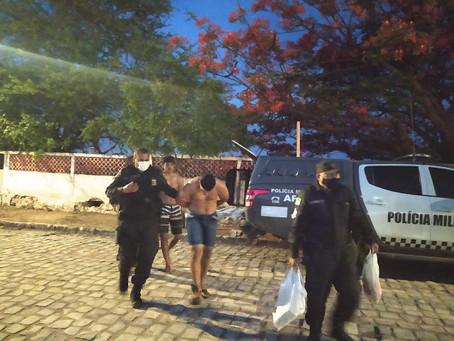 Dois homens são presos acusados de tráfico de drogas na zona rural de Apodi