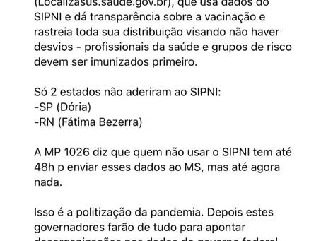 Eduardo Bolsonaro critica Fátima Bezerra e Dória