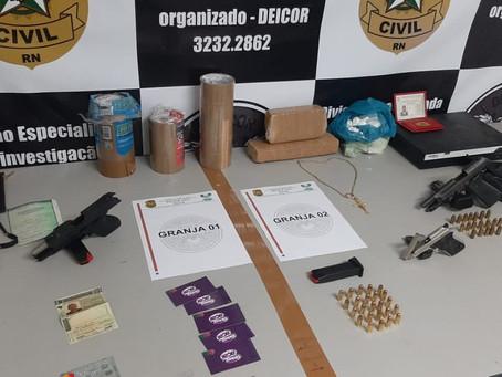 Polícia Civil prende 10 suspeitos de integrarem facção criminosa durante operação no RN
