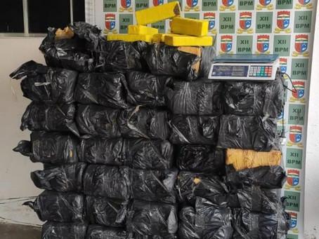 Polícia Militar apreende mais de 650 kg de maconha em Mossoró