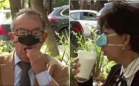Mascara bizarra contra Covid permite pessoas comerem 'com segurança'