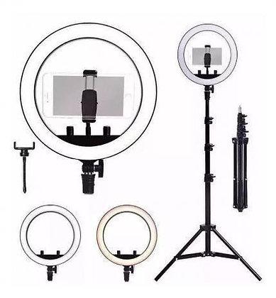 Kit Completo Ring Light C/ Tripé Dimmer Youtuber Selfie Pro