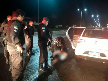 Ex-policial penal é preso com carro roubado durante perseguição em Apodi/RN