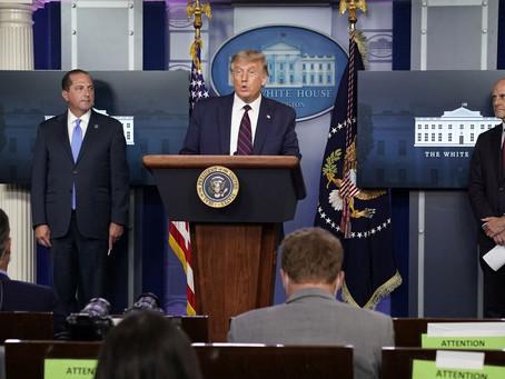 Trump anuncia liberação de uso de plasma em tratamento contra Covid-19 nos EUA