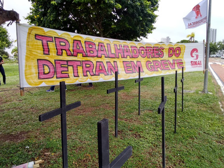 DETRAN rechaça proposta do Governo e decide continuar em greve