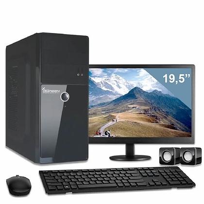 "Computador Completo Monitor 19,5"" Intel Dual Core 4GB HD 500GB"
