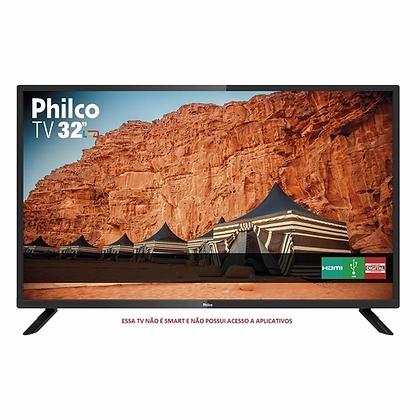 """TV LED 32"""" Philco HD com Receptor de Sinal de TV Digital Integrado"""