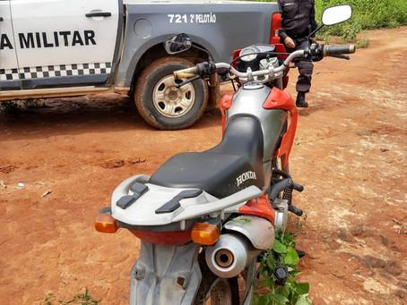 Moto roubada há três dias é localizada pela Polícia Militar em Luís Gomes/RN