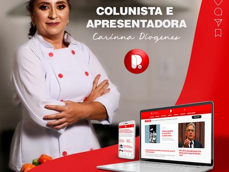 Conheça Carinna Diógenes, a nova colunista gastronômica do Portal Potiguar