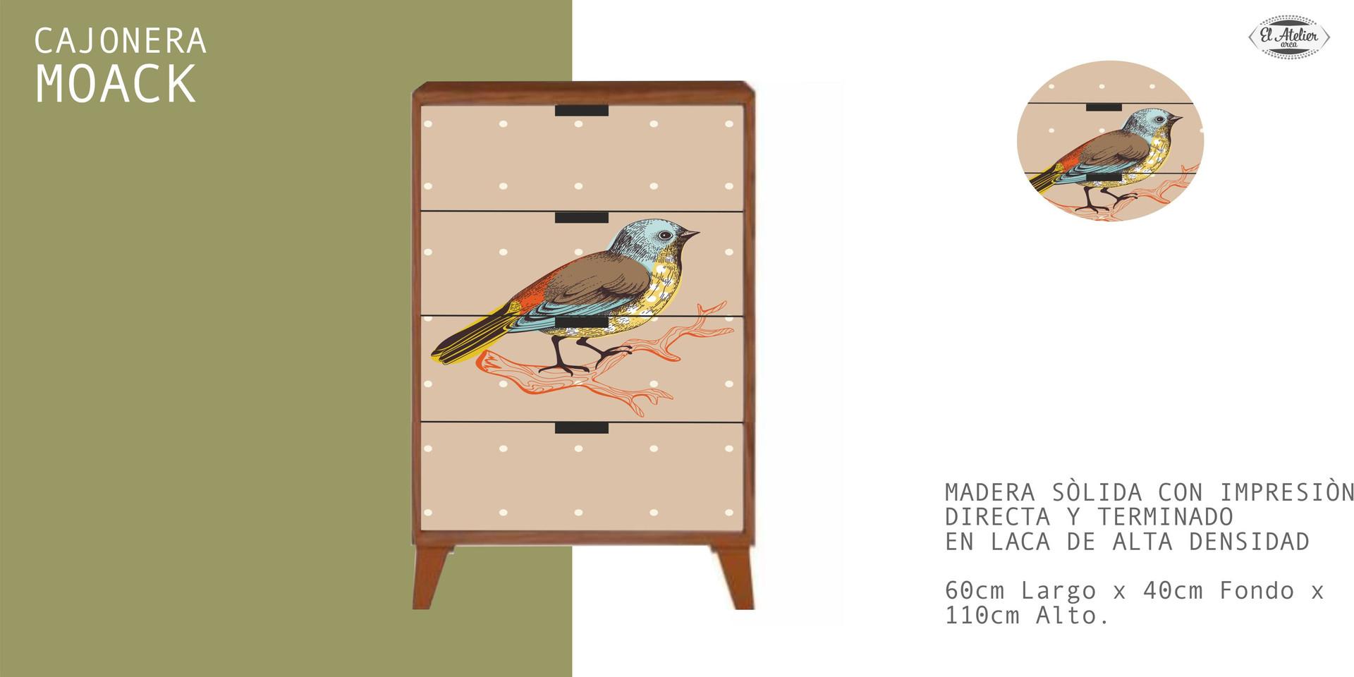 Cajonera Moack Pájaro