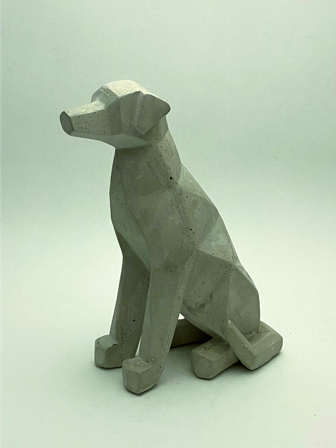 Perro Geometrico cemento perfil