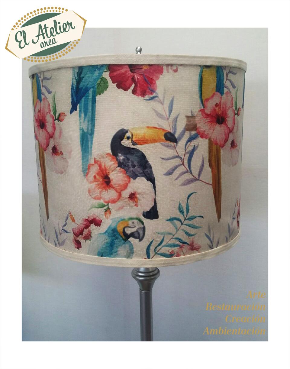 Tapicería de lámpara