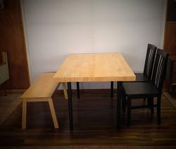 Pedido especial. Mesa, banca y sillas