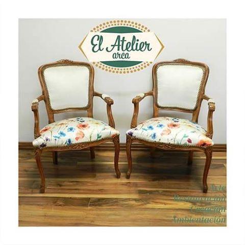 Pedido especial de tapicería #elatelierarca #renovación #restauración #chair #wood