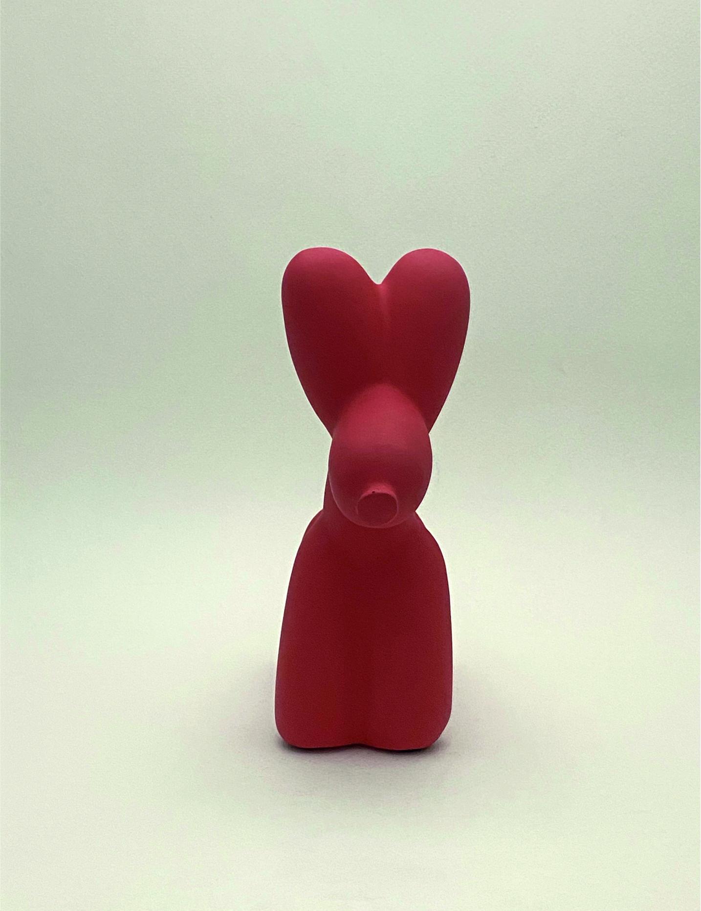 Perro globo mate_L619 frente rojo
