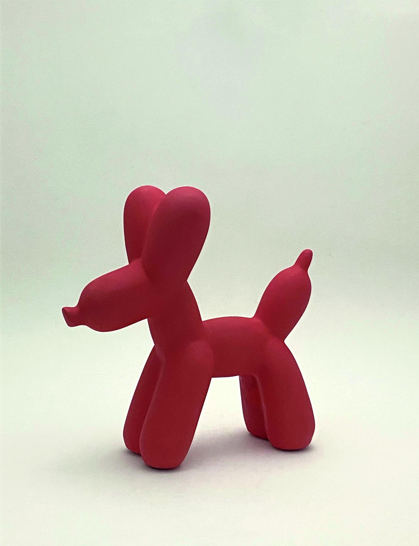 Perro globo mate_L619 perfil_rojo