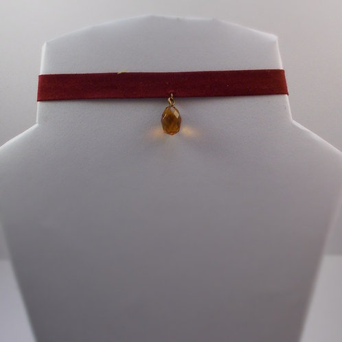 Red Choker with a orange Charm