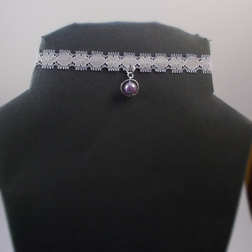 Purple Planet Choker and Earrings