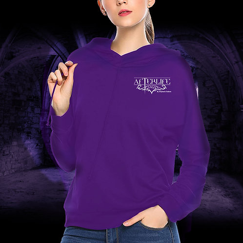 Hoodie Pull Over Purple Afterlife Logo