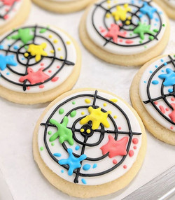Paintball Party Cookies 😀_#paintball #p