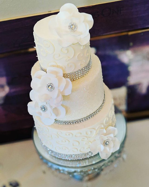 Frosted Buttercream Wedding Cake with Su