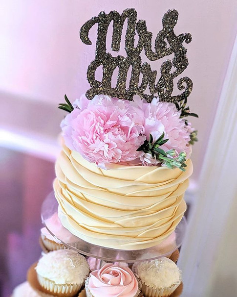 Wedding Cupcake Tower__Created by Treats