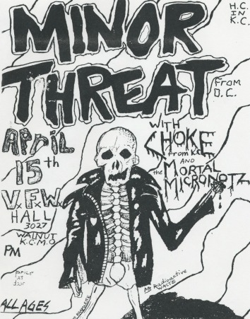 Flyer for Minor Threat